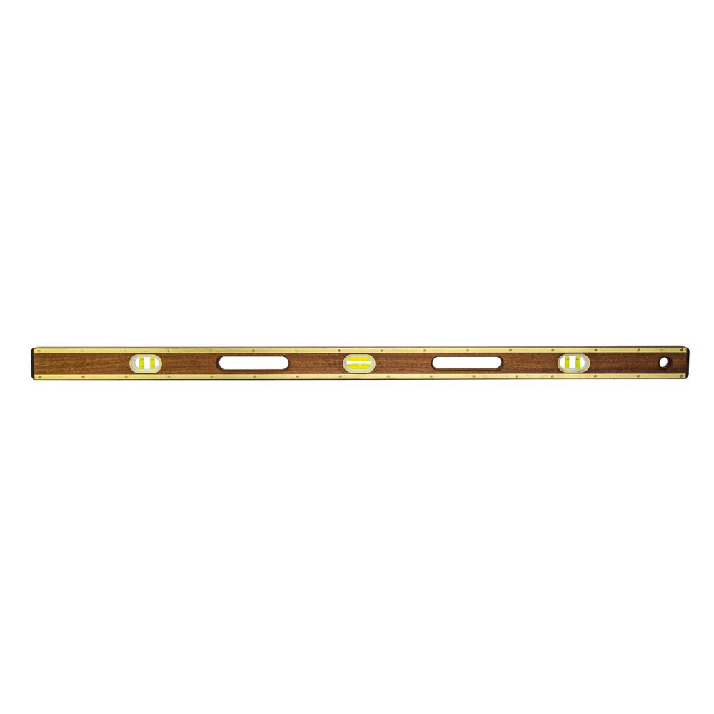 48 in. Brass Rail Level with Hand Holes
