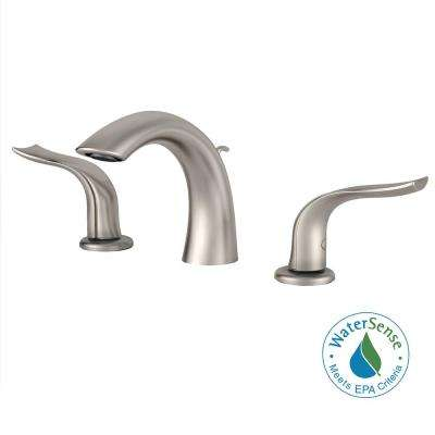 Kohra 8 in. Widespread 2-Handle Bathroom Faucet in Brushed Nickel