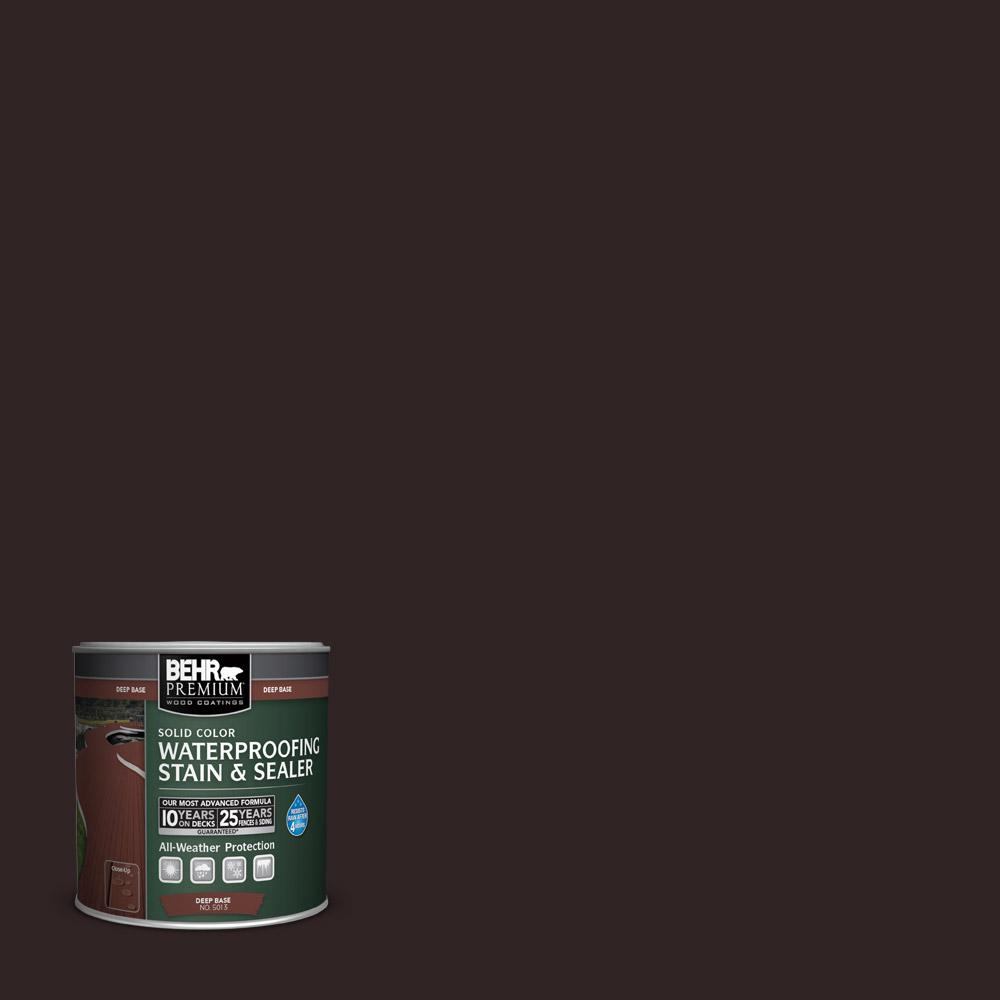 BEHR Premium 8 oz. #SC104 Cordovan Brown Solid Color Waterproofing Stain and Sealer Sample