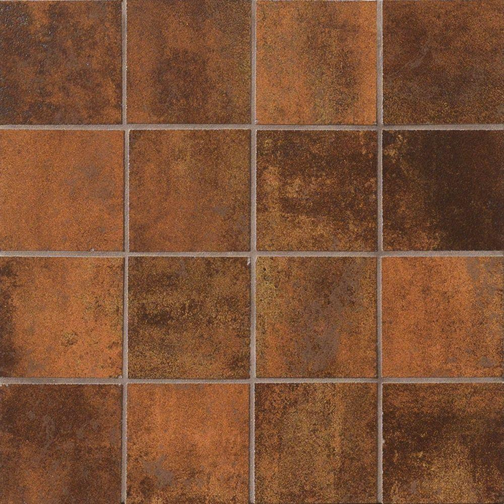 MARAZZI Vanity Rust 12 in. x 12 in. Porcelain Mosaic Floor and Wall Tile-DISCONTINUED