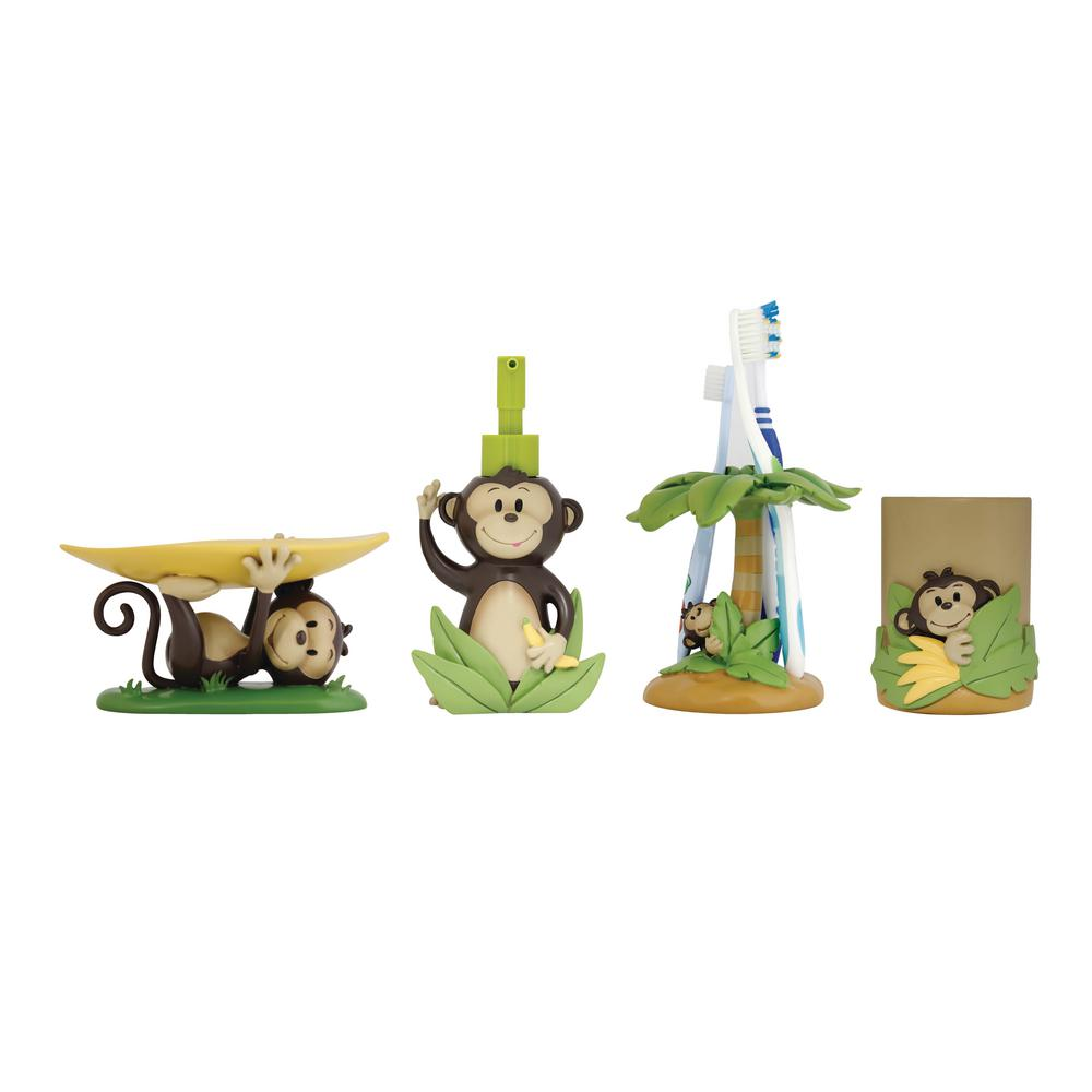 Modona Monkey 4 Piece Kids Bathroom