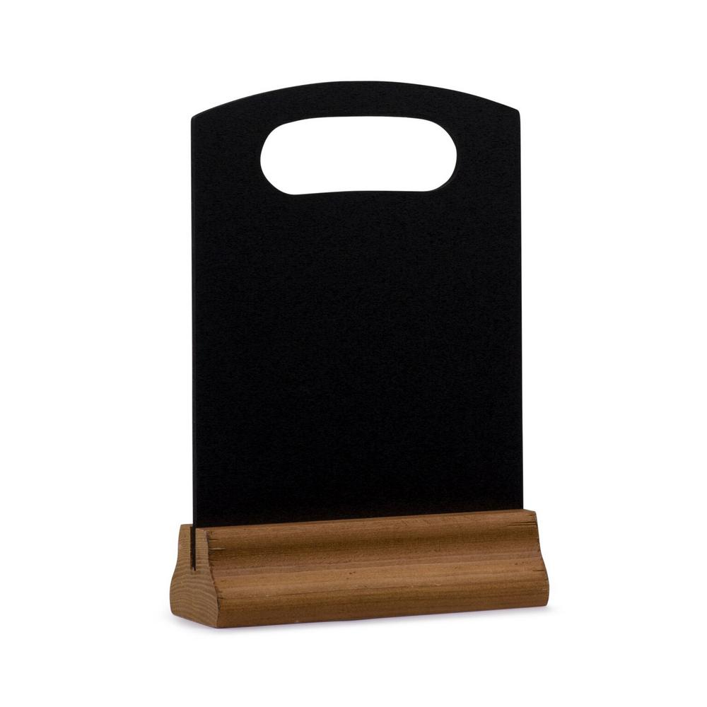 12 in. x 8 in. Black Wood Table Top Board Sign