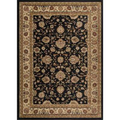 Elegance Black 7 ft. 6 in. x 9 ft. 10 in. Traditional Area Rug