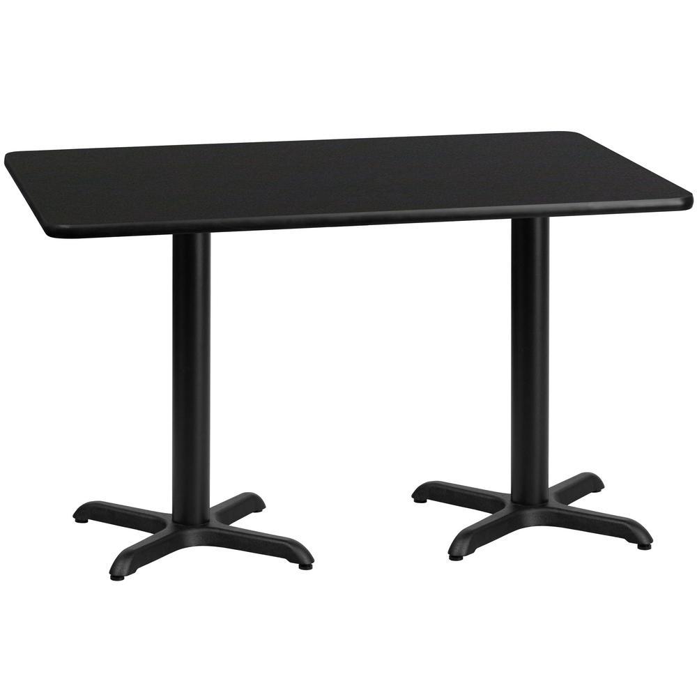 Perfect Flash Furniture 30u0027u0027 X 60u0027u0027 Rectangular Black Laminate Table Top With 22