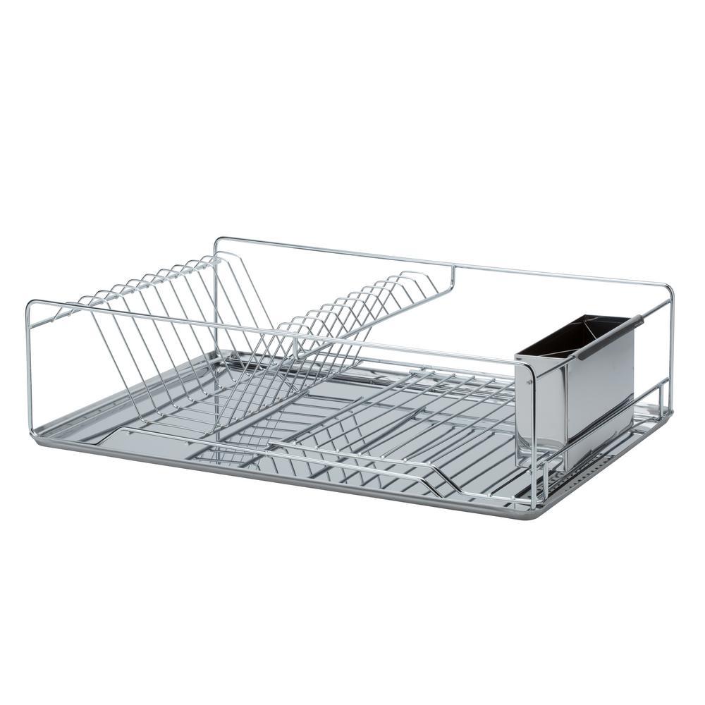 Twisted Chrome 3-Piece Dish Rack