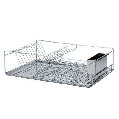 Twisted Chrome 3-Piece Dish Rack