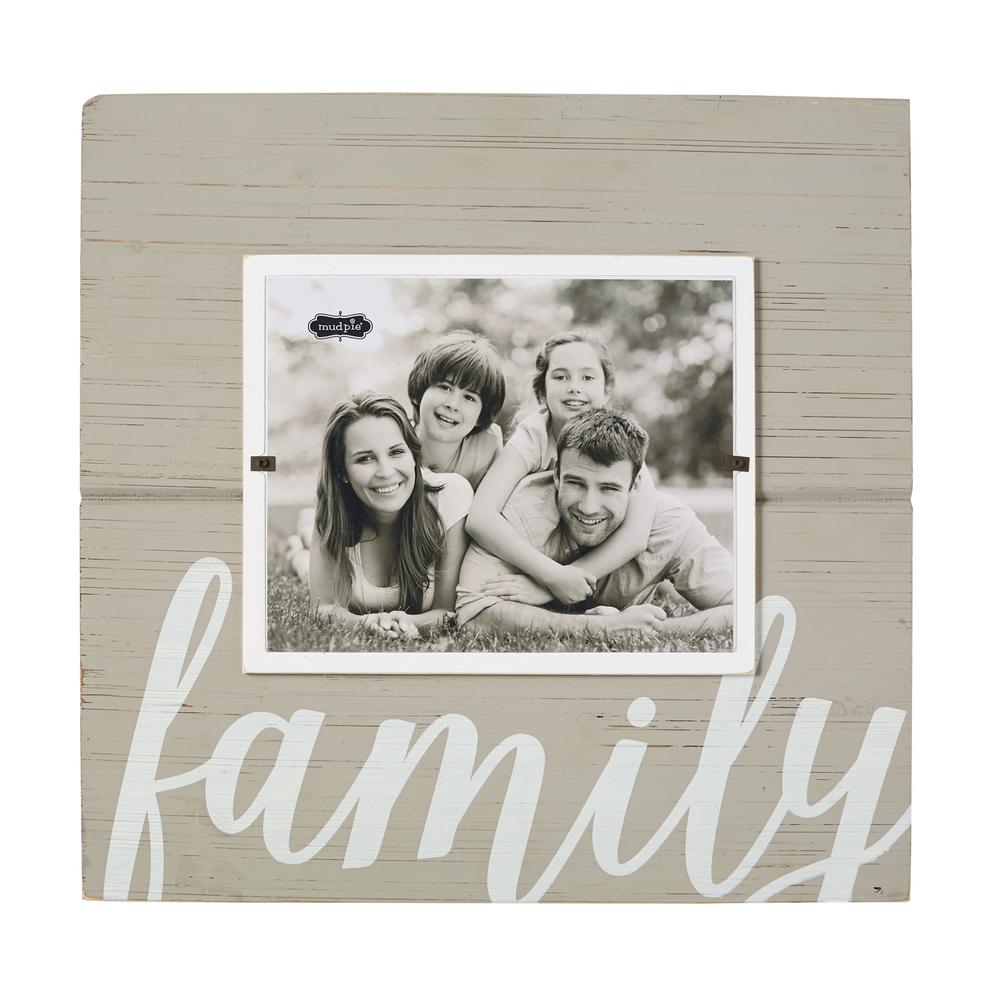 Family Gray Painted Distressed Picture Frame-4695381 - The Home Depot
