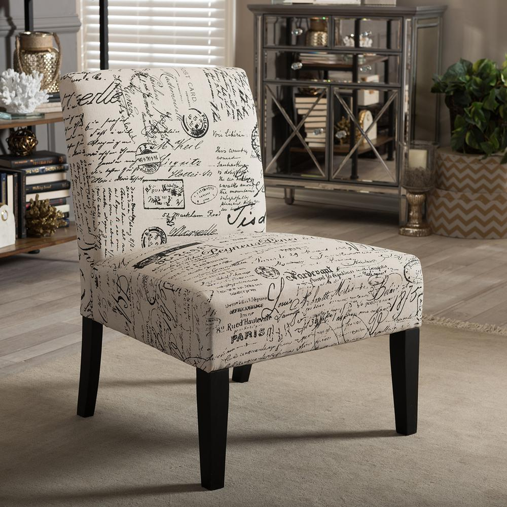 Baxton Studio Phaedra Multi Color Fabric Dining Chair