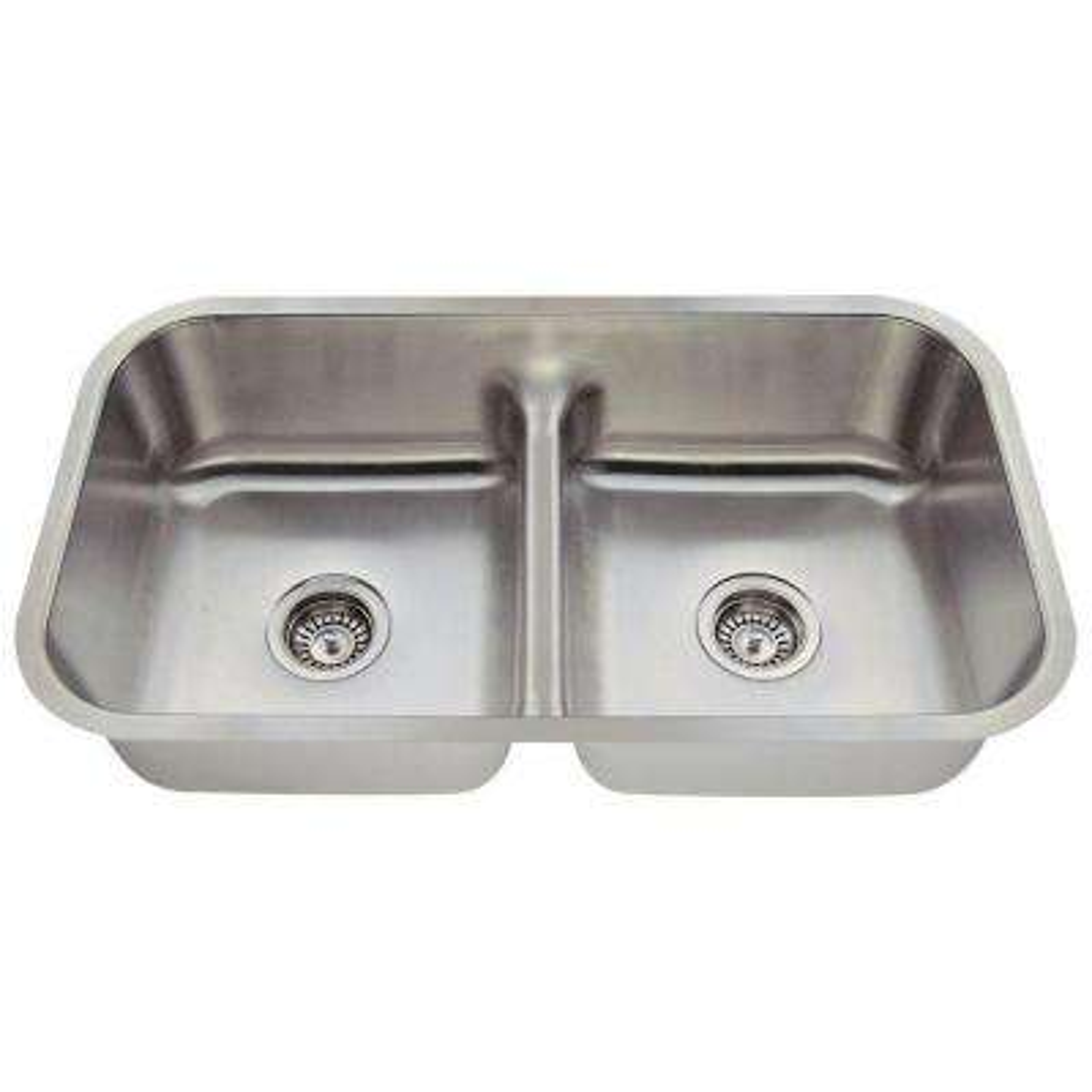 Undermount Stainless Steel 33 in. Double Bowl Kitchen Sink