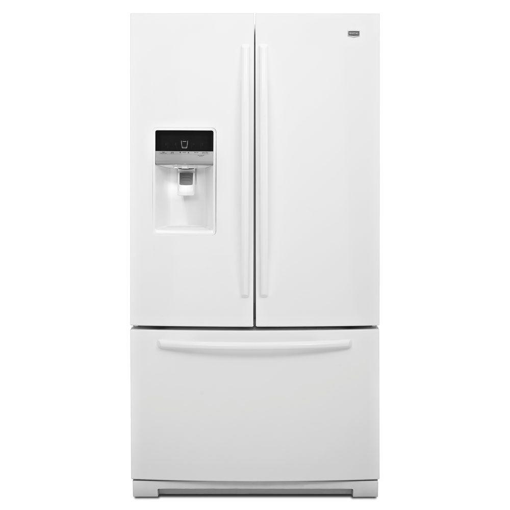 Maytag Ice2O 26.1 cu. ft. French Door Refrigerator in White-DISCONTINUED