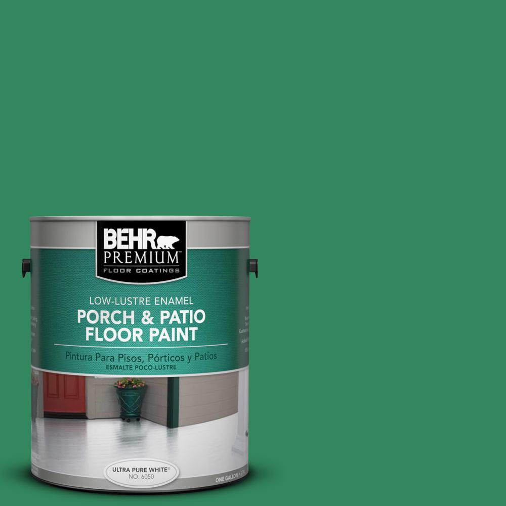 1 gal. #P420-6 Exquisite Emerald Low-Lustre Porch and Patio Floor Paint