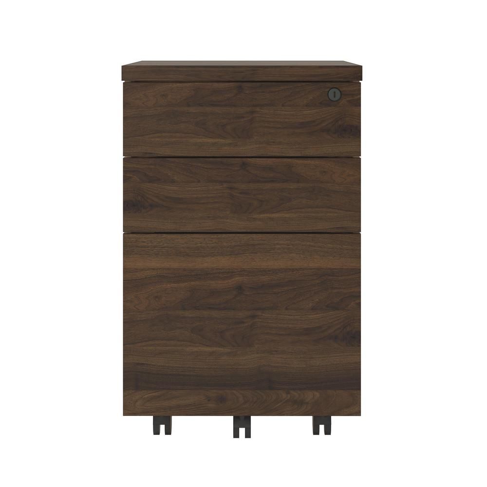 Ameriwood AX1 Walnut Mobile File Cabinet