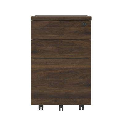 AX1 Walnut Mobile File Cabinet