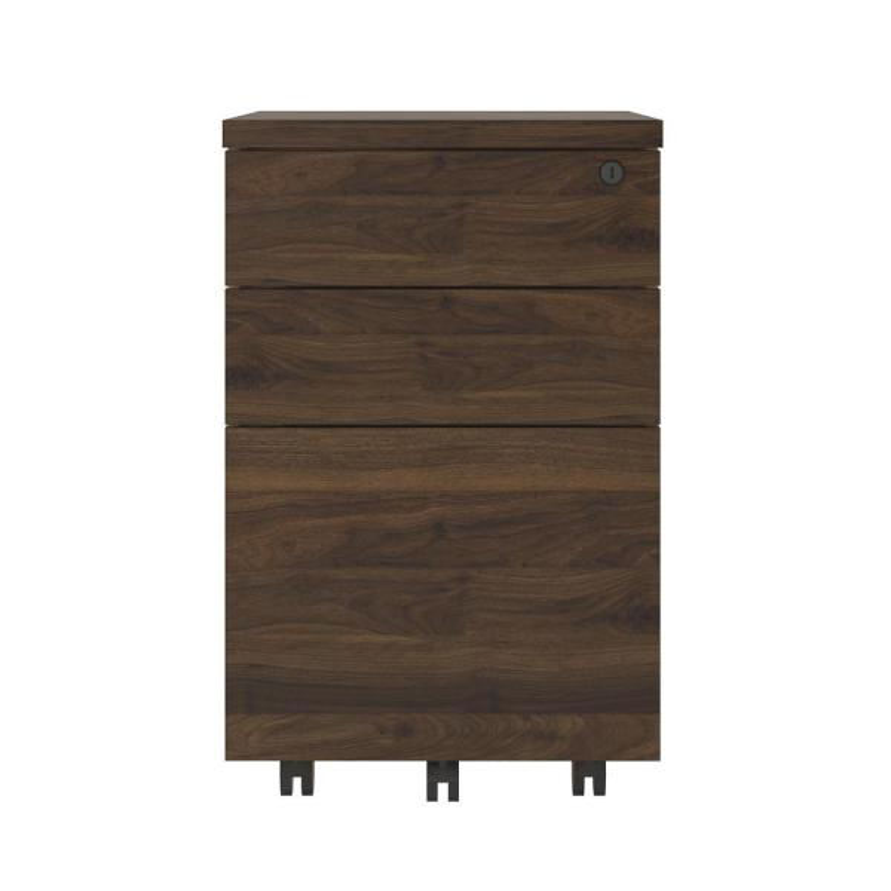 Ameriwood AX1 Walnut Mobile File Cabinet 9294096COM