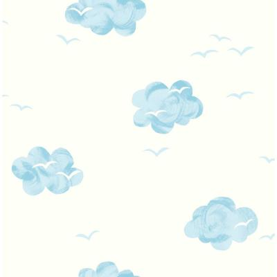 Kids Daydream White and Sky-Blue Wallpaper