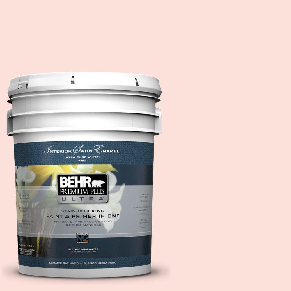 BEHR Premium Plus Ultra 5-gal. #200A-1 Peach Cloud Satin Enamel Interior Paint