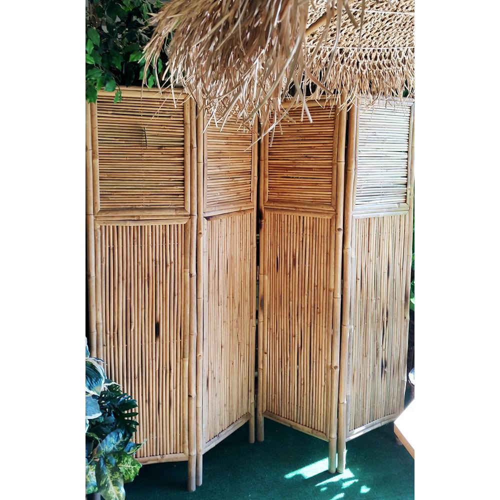 MGP 72 in. W x 72 in. H Bamboo 4-Panel Screen
