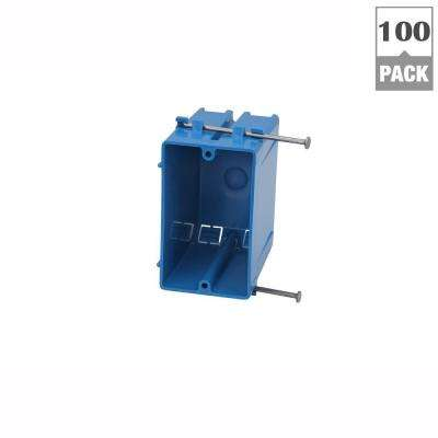 1-Gang 22 cu. in. New Work PVC Electrical Box (Case of 100)