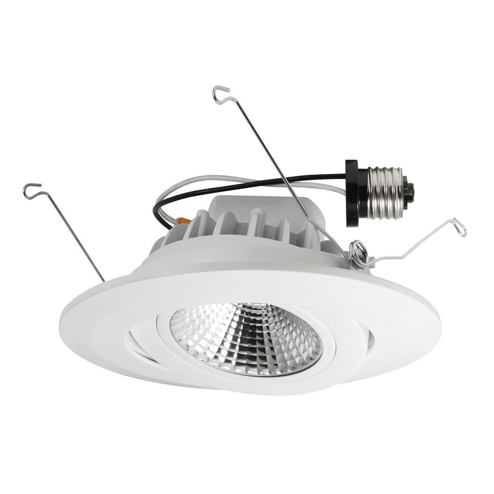 Lithonia Lighting 3 in. Matte White Recessed Baffle Integrated LED ...