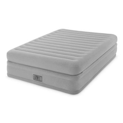 Queen Inflatable Prime Comfort Elevated Airbed Mattress with Built-in Pump
