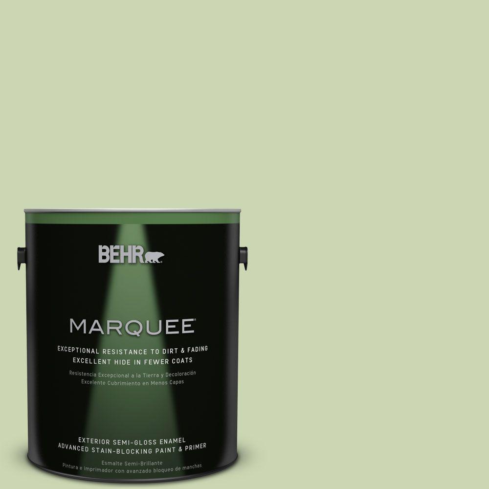 1-gal. #M360-3 Avocado Whip Semi-Gloss Enamel Exterior Paint