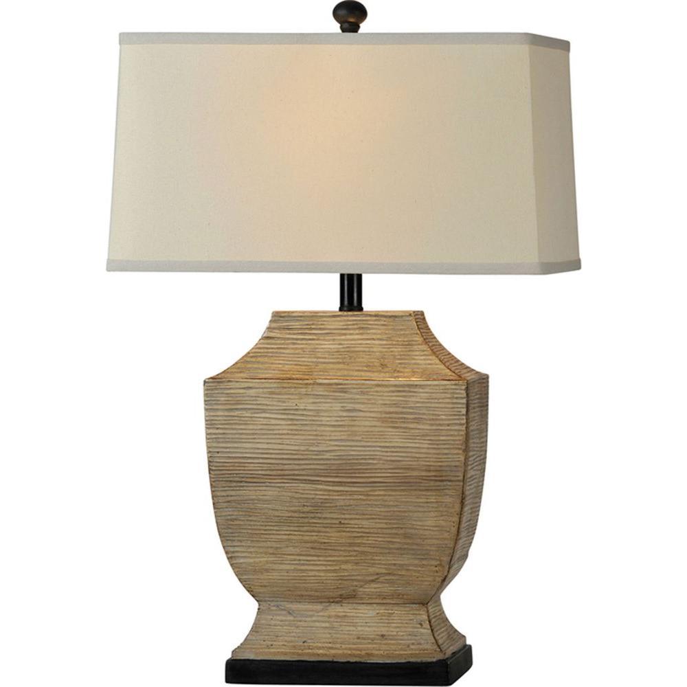 Illumine Luna 29 in. Textured Beige Table Lamp