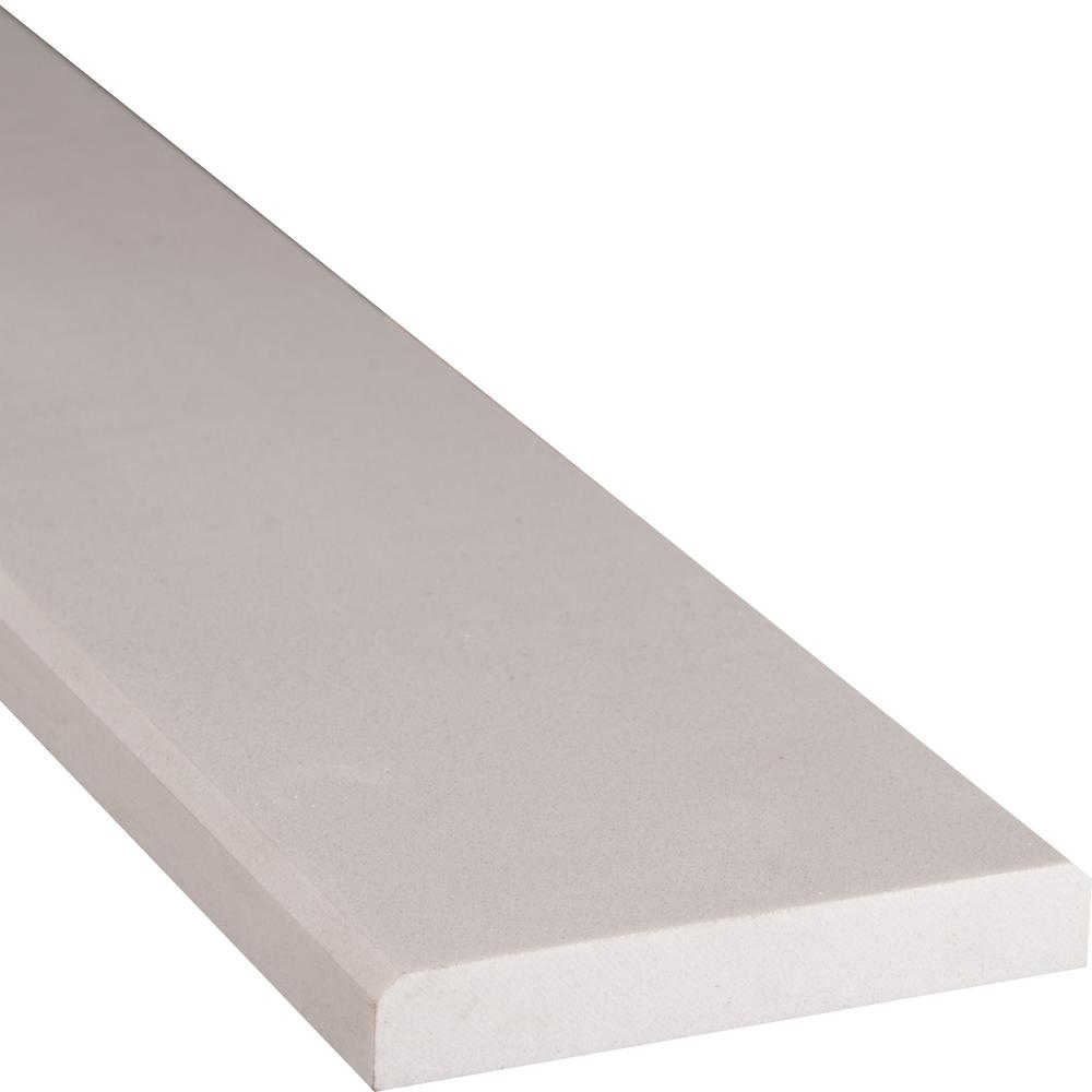 MSI White Double Bevelled 4 in. x 36 in. Engineered Marble Threshold ...