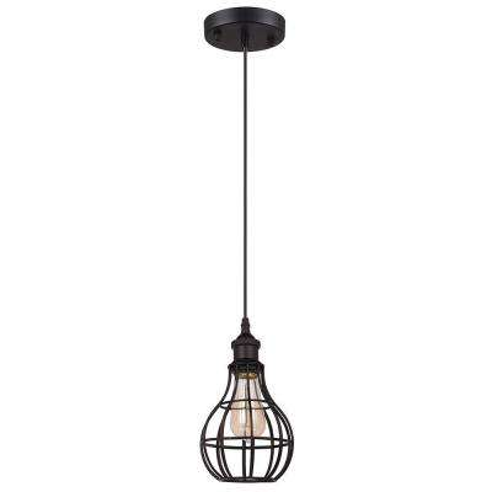 Lancy Collection 1-Light Black Pendant