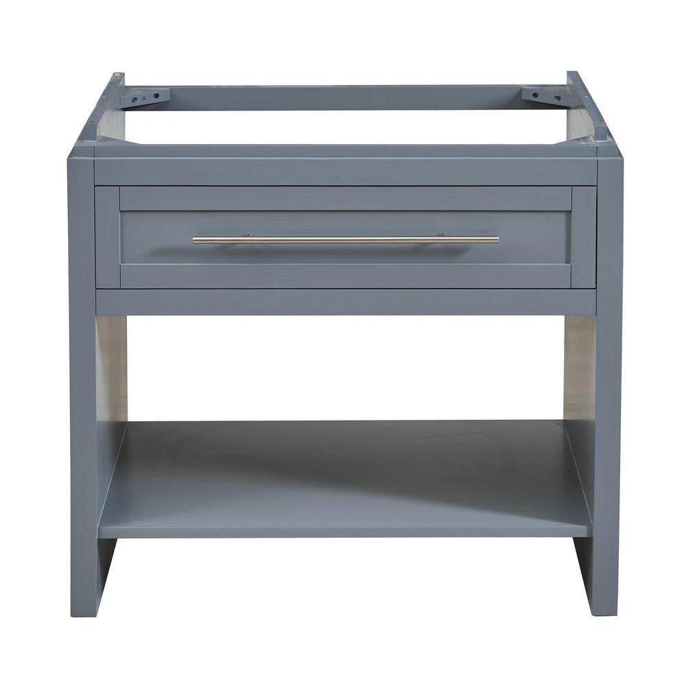 Silkroad Exclusive 36 In W X 23 In D Bath Vanity Cabinet Only In Ocean Grey