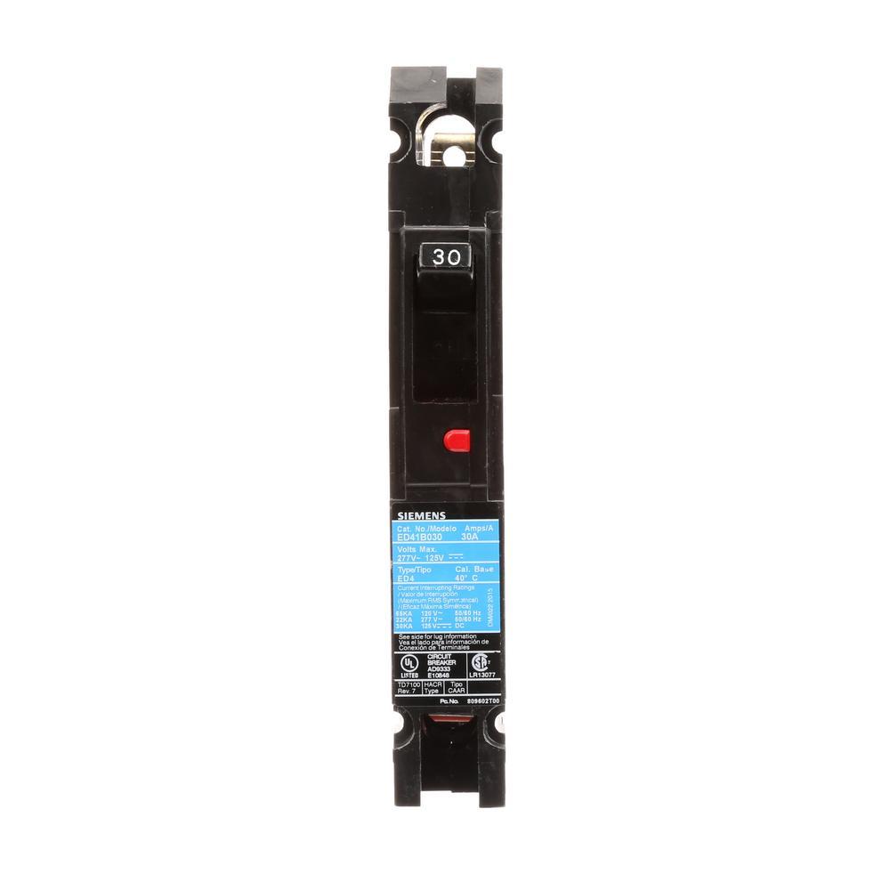 30 Amp 1-Pole Type ED 22 kA Circuit Breaker