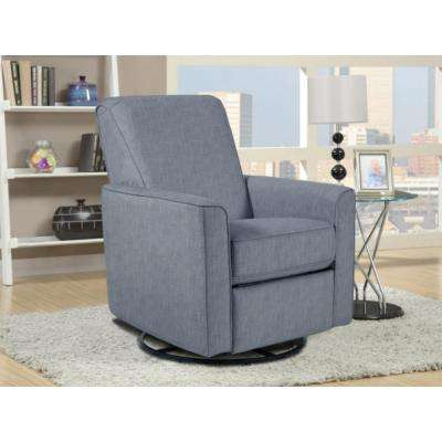 Harmony Carlton Dove Gray Fabric Swivel Glider Recliner