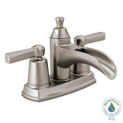 Davis 4 in. Centerset 2-Handle Bathroom Faucet in SpotShield Brushed Nickel