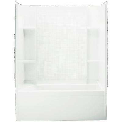Accord 32 in. x 60 in. x 74 in. Standard Fit Shower Kit in White