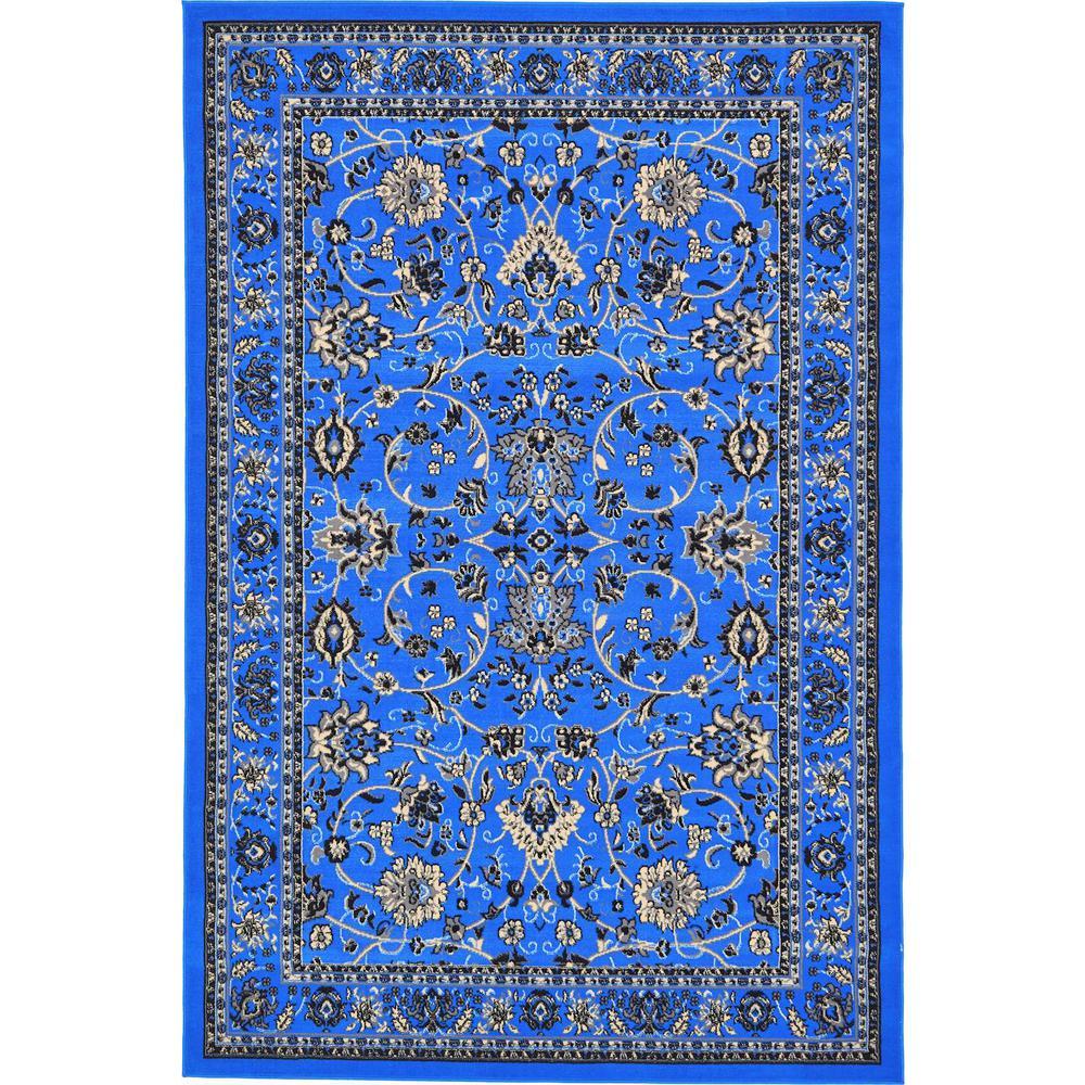 Unique Loom Sialk Hill Washington Dark Blue 6' 0 x 9' 0 Area Rug