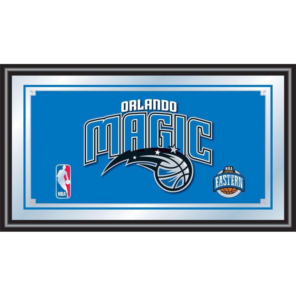 null Orlando Magic NBA 15 in. x 26 in. Black Wood Framed Mirror
