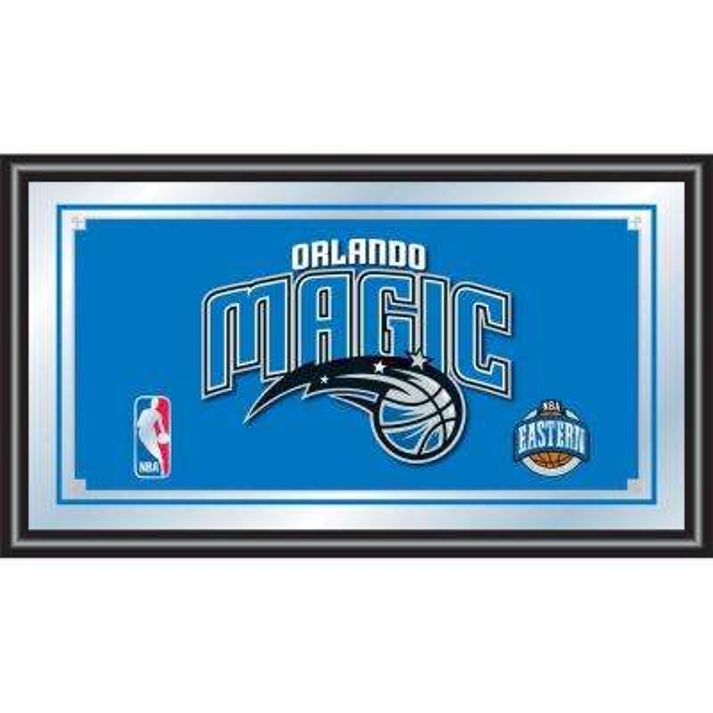 Orlando Magic NBA 15 in. x 26 in. Black Wood Framed Mirror