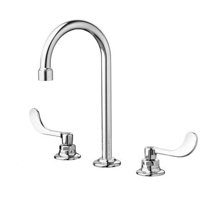 Monterrey 8 in. Widespread 2-Handle 0.5 GPM Gooseneck Bathroom Faucet with Wrist Blade Handles in Polished Chrome