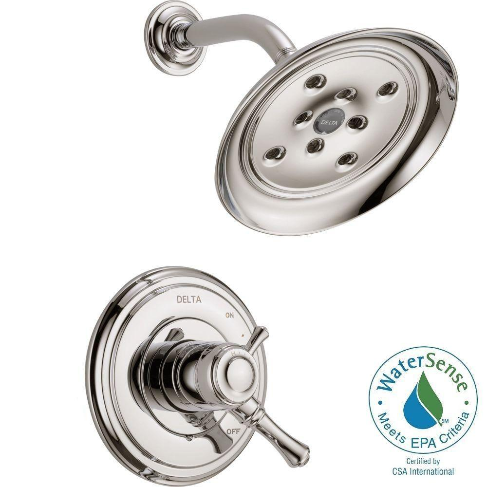 delta cassidy 1 handle shower only faucet trim kit in polished