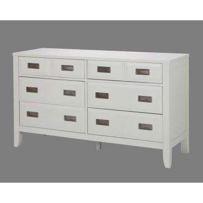 Newport 6-Drawer White Dresser