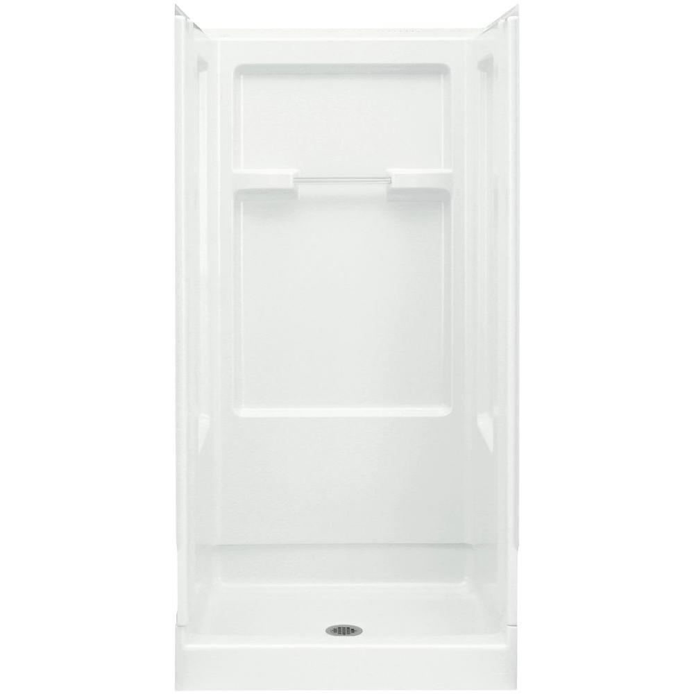 STERLING Advantage 35-1/4 in. x 36 in. x 73-1/4 in. Shower Kit in White