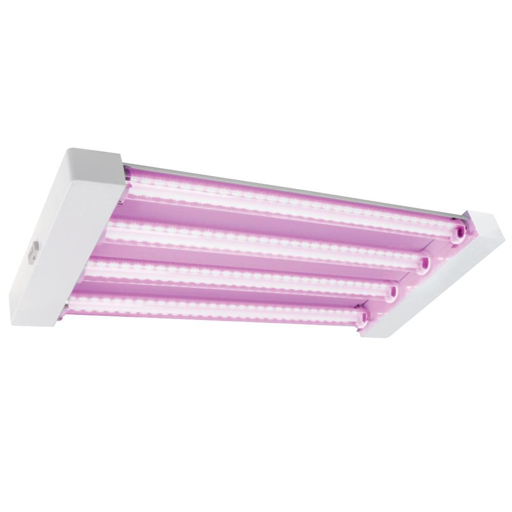 2 ft. 4-Light 60-Watt White LED Hydroponic Linkable Grow Light (Case of 2)