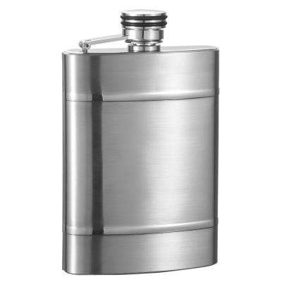 Wickeln Brushed Stainless Steel Liquor Flask