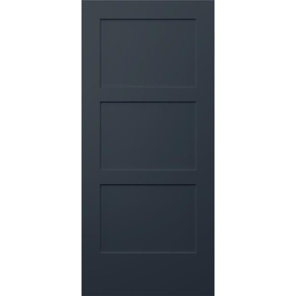 36 in. x 80 in. Birkdale Denim Stain Smooth Solid Core Molded Composite Interior Door Slab
