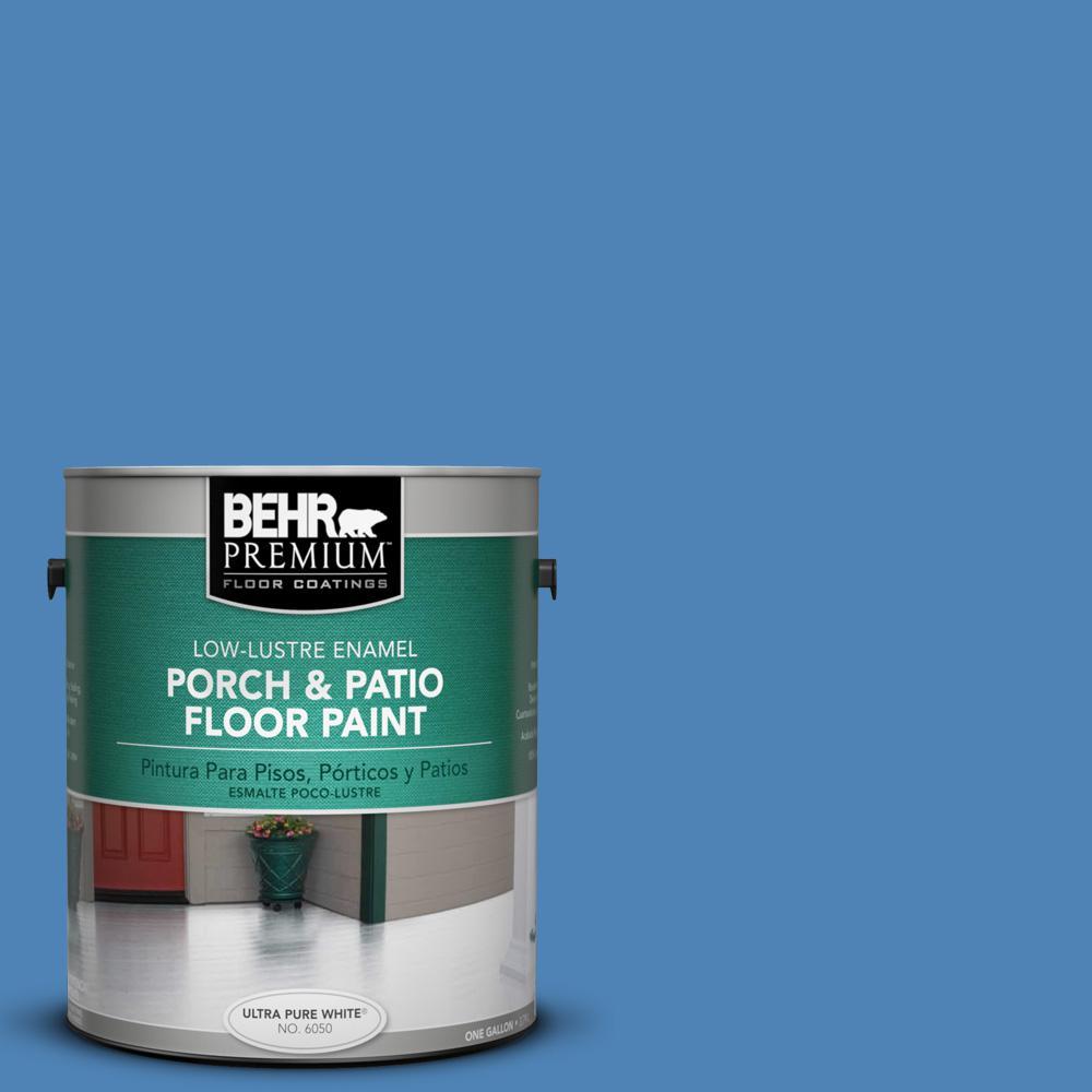 Marvelous BEHR Premium 1 Gal. #PPU15 6 Neon Blue Low Lustre Interior/Exterior Porch  And Patio Floor Paint 630001   The Home Depot