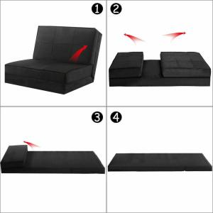 Costway Convertible Fold Down Sofa Chair Flip Out Lounger ...