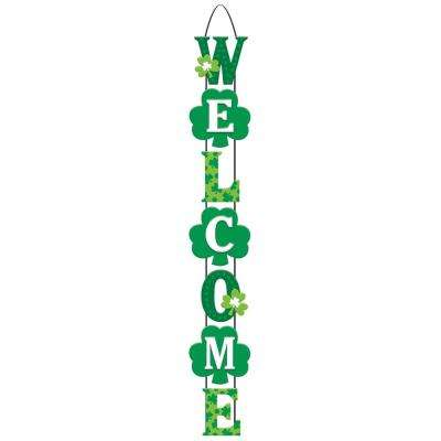 28 in. x 4.25 in. St. Patrick's Day MDF Welcome Stacked Sign (2-Pack)