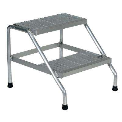 2-Step Aluminum Step Stand - Welded
