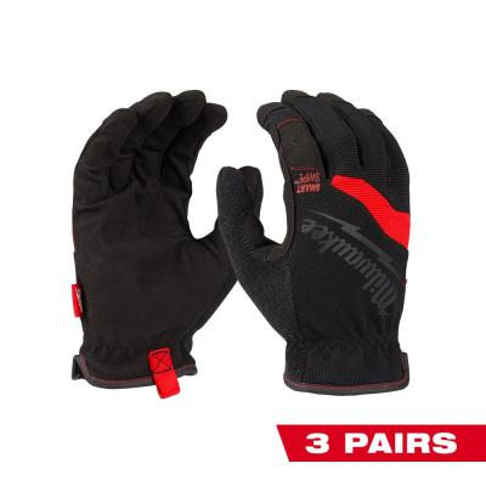 X-Large FreeFlex Work Gloves (3-Pack)