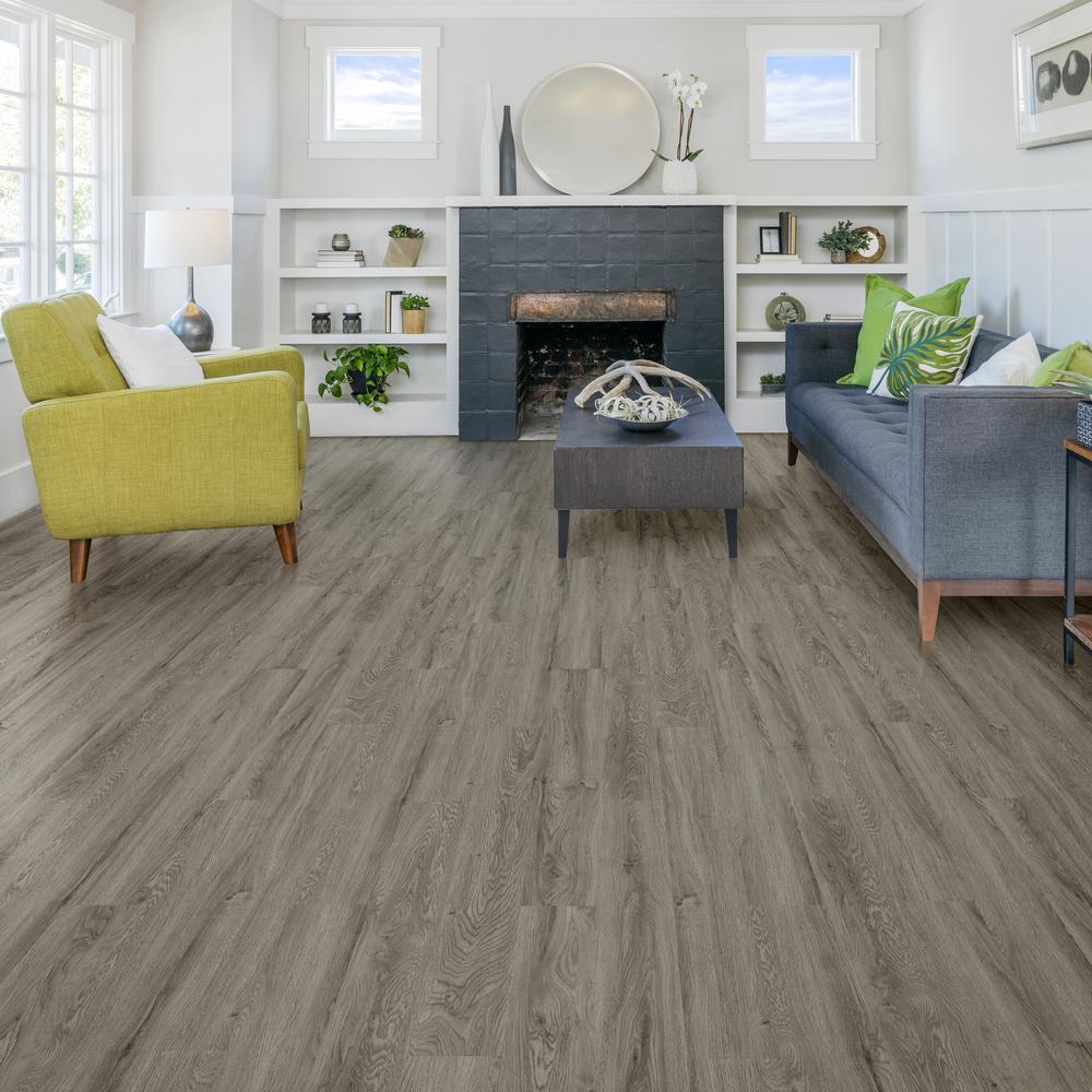 Verge 6 In W X 48 L Silver Oak, Glue For Laminate Flooring Home Depot