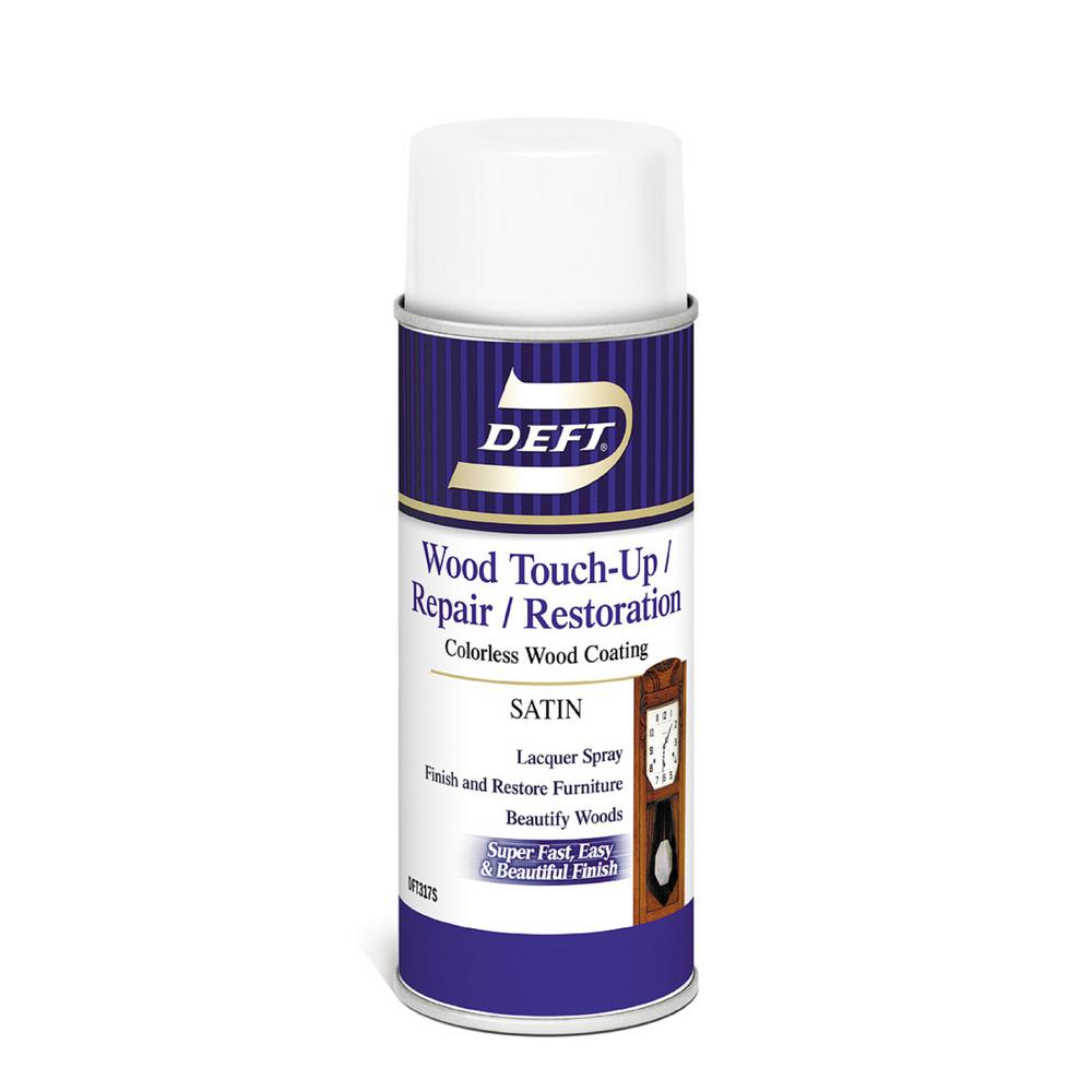 Aerosol Clear Satin Interior Wood Finish Lacquer